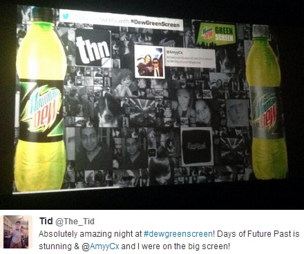 Mountain Dew's effective use of a hashtag for its #dewgreenscreen event